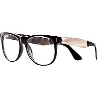 Black Jeepers Peepers metal arm geek glasses