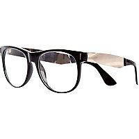 Black Jeepers Peepers metal arm geek glasses
