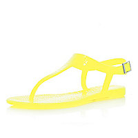 Bright yellow jelly sandals