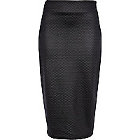 Black coated textured tube skirt