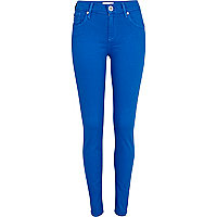 Bright blue Amelie superskinny jeans