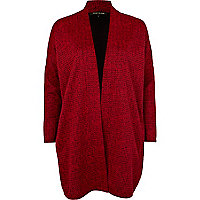 Red oversized unfastened jacket