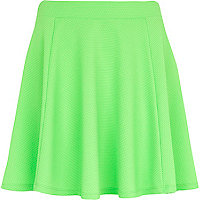 Mint green textured skater skirt