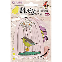 Rose scented birdy car air freshener