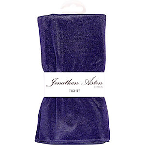 Purple Jonathan Aston high shine disco tights