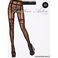 Black Jonathan Aston harness tights