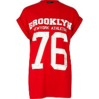 Red Brooklyn Athletics print t-shirt