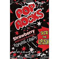 Pop Rocks strawberry popping candy