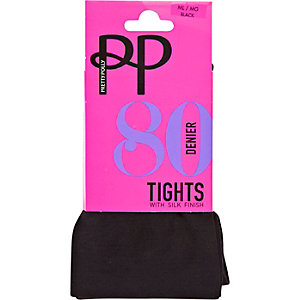 Black Pretty Polly 80 denier opaque tights