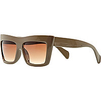Khaki Jeepers Peepers visor sunglasses