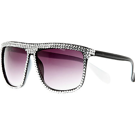 Black diamante embellished sunglasses