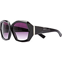 Black 3D shaped sunglasses