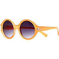 Orange Jeepers Peepers round sunglasses