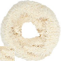 Cream fluffy borg snood