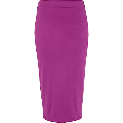 Bright purple double layered pencil skirt