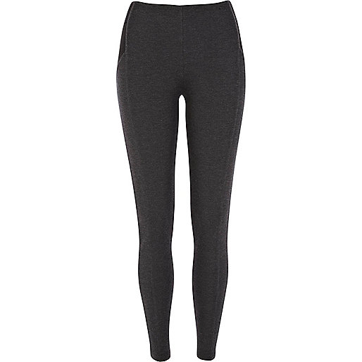 Charcoal grey high waisted ponti leggings