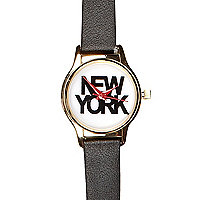 Black New York watch