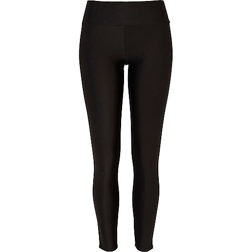 Black matte disco leggings