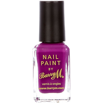 Bright purple Barry M nail varnish
