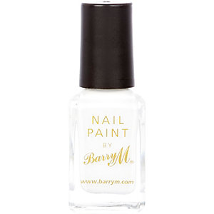White Barry M matte nail polish