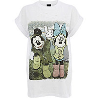 White Mickey Mouse festival print t-shirt