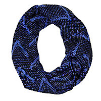 Blue chevron knit snood