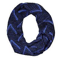 Blue chevron knit snood