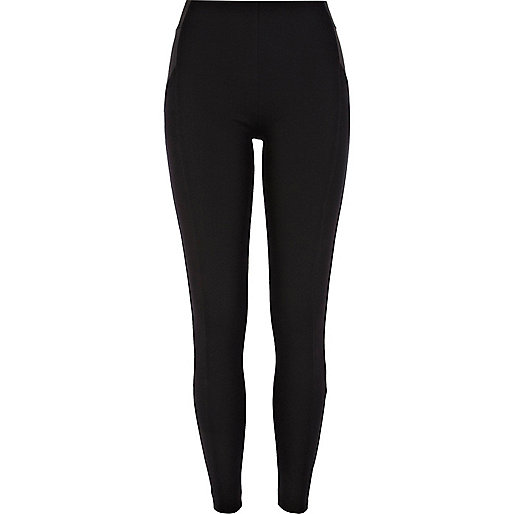 Black high waisted ponti leggings