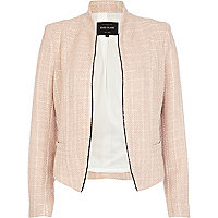 Pink structured cropped jacket