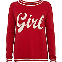 Red Chelsea Girl girl jumper