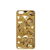 Gold tone faceted iPhone 5 case