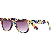 Yellow tie dye retro sunglasses