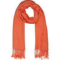 Orange lightweight scarf