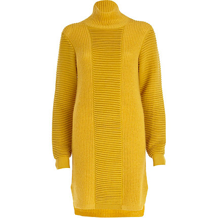 Yellow Eudon Choi turtle neck jumper dress
