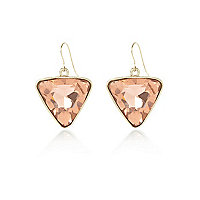 Light pink triangle drop earrings