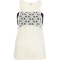 Cream lace bandeau vest