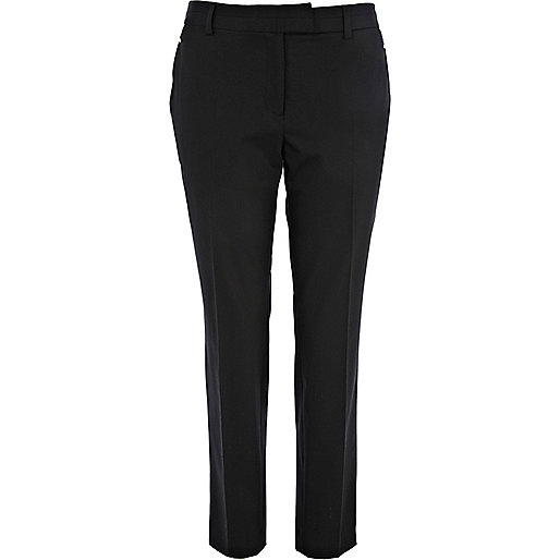 Black slim cigarette pants