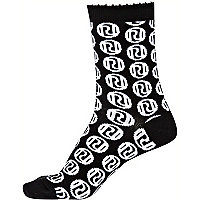 Black and white RI logo socks