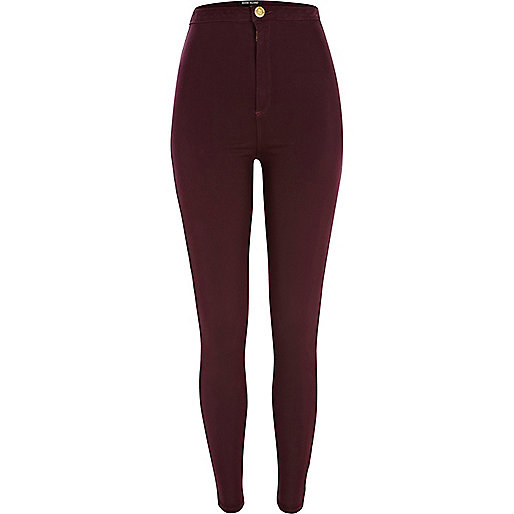Dark red tube pants