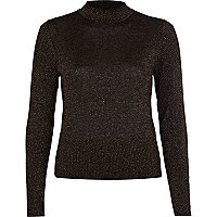 Black lurex cropped jumper