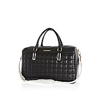 Black quilted bowler bag