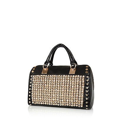Black studded bowler bag