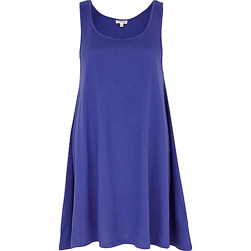 Purple longline swing tunic