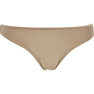 Gold shimmer bikini brief