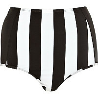 Black and white stripe bikini bottoms