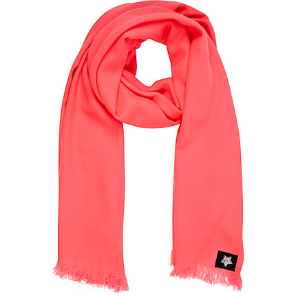 Bright pink star scarf