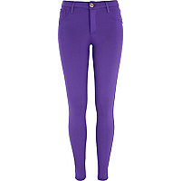 Purple scuba jeggings