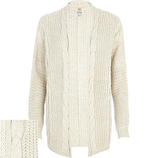 Cream aran knit cardigan