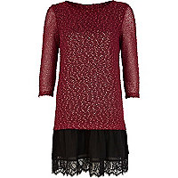 Dark red Chelsea Girl 2 in 1 jumper dress