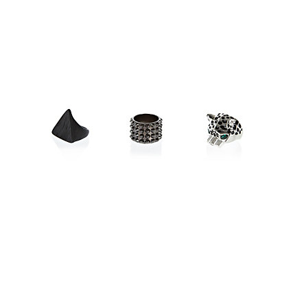Dark grey eclectic ring pack